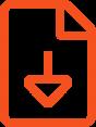Icon eines Download Zeichens